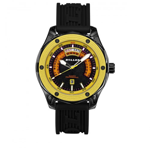 Holler Superfly Black & Yellow Watch
