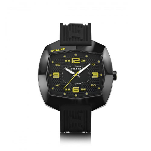 Holler Pimped De Lite Black & Yellow Watch