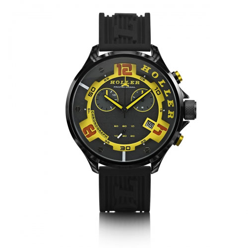 Holler Stax Chrono Yellow Watch