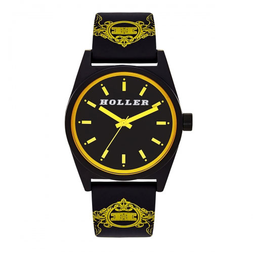 Holler Backbeat Black & Yellow Watch