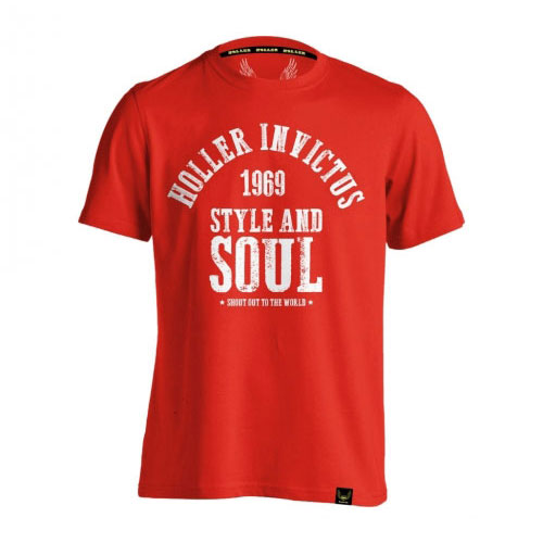 Holler Garvin Red And White T-Shirt
