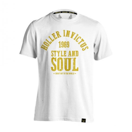 Holler Garvin White And Gold T-Shirt