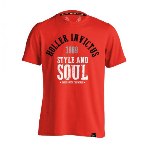 Holler Garvin Red, Black, Grey & White T-Shirt