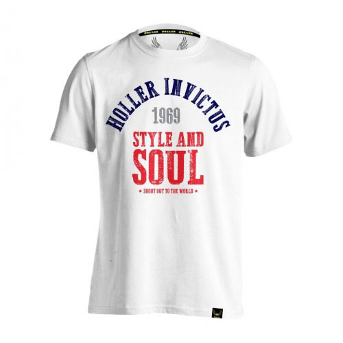 Holler Garvin White, Navy, Grey & Red T-Shirt