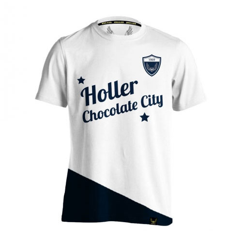 Holman White And Navy T-Shirt