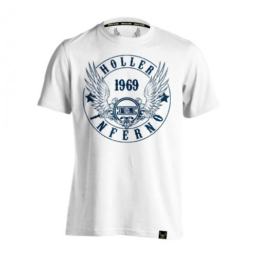 Holler Jenkins White And Navy T-Shirt