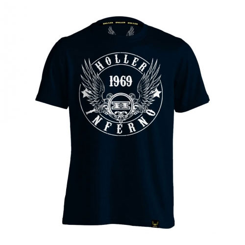 Holler Jenkins Navy And White T-Shirt