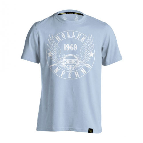 Holler Jenkins Light Blue And White T-Shirt