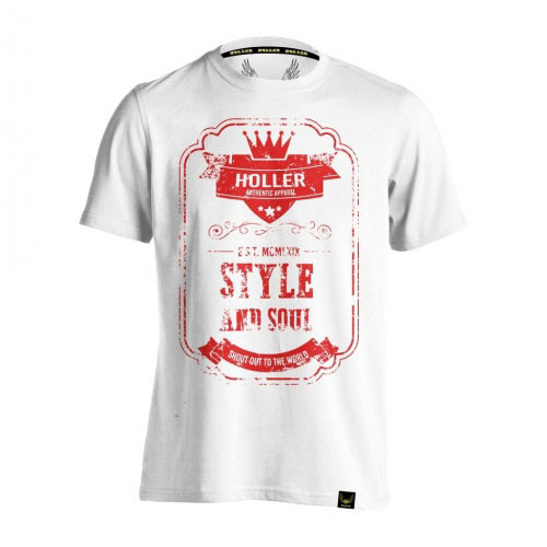Holler Mitchell White And Red T-Shirt