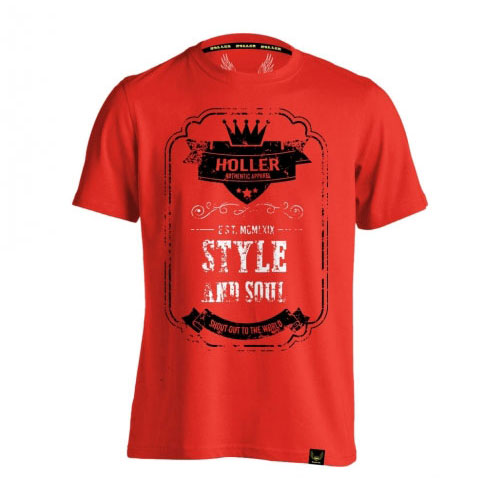 Holler Mitchell Red, Black And White T-Shirt
