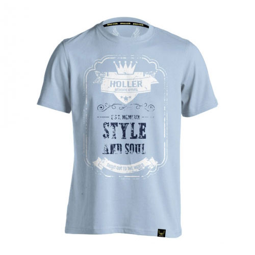 Holler Mitchell Light Blue, White And Blue T-Shirt