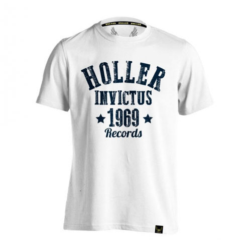 Holler Nomad White And Navy T-Shirt