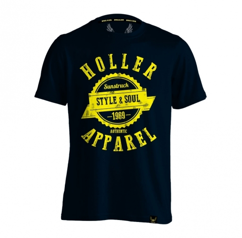 Holler Sinbad Navy And Yellow T-Shirt