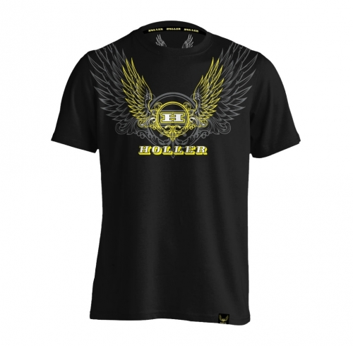 Holler Turner Black, Yellow And Grey T-Shirt