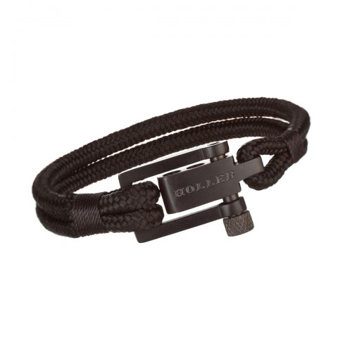 Holler Mancha  Black Sandblasted U-Buckle / Black Paracord Bracelet