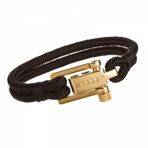 Holler Mancha  Gold Polished U-Buckle / Black Paracord Bracelet