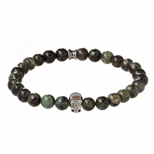 Jefferson 8mm Green Kambaba Stone Bracelet
