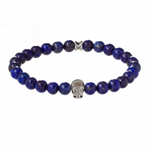 Holler Jefferson 8mm Blue Gold Dumortierite Stone Bracelet