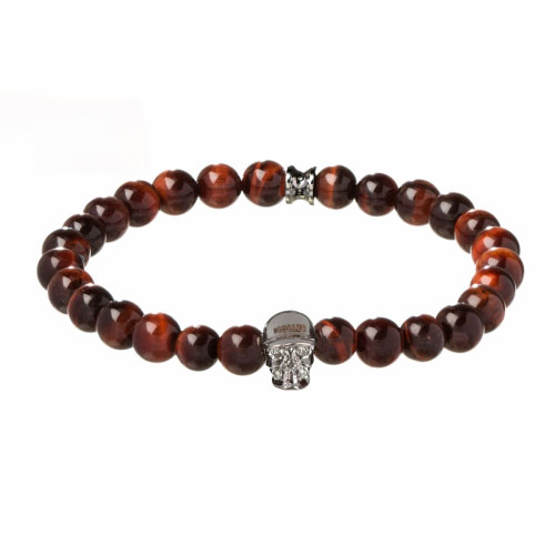 Holler Jefferson 8mm Red Tiger Eye Stone Bracelet