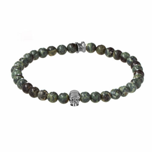 Holler Jefferson 6mm Green Kambaba Stone Bracelet