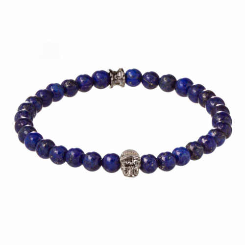 Jefferson 6mm Blue Gold Dumortierite Stone Bracelet