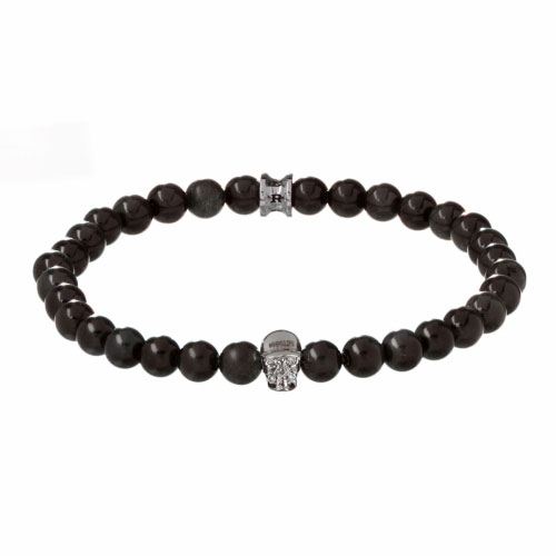 Jefferson 6mm Agate Stone Bracelet