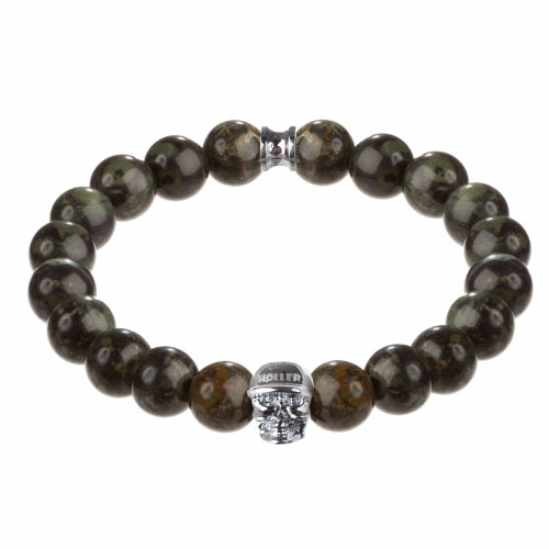 Holler Jefferson 10mm Green Kambaba Stone Bracelet