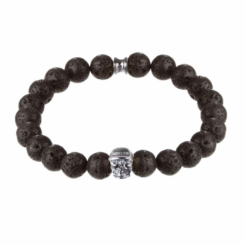 Holler Jefferson 10mm Lava Rock Stone Bracelet