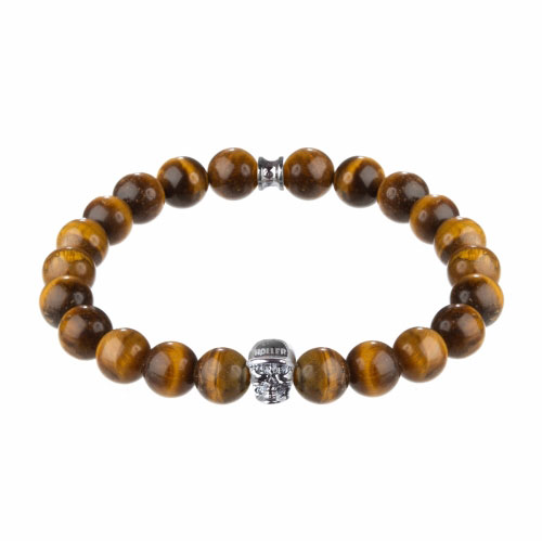Jefferson 10mm Orange Tiger Eye Stone Bracelet