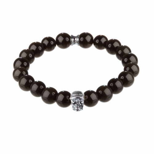 Jefferson 10mm Agate Stone Bracelet