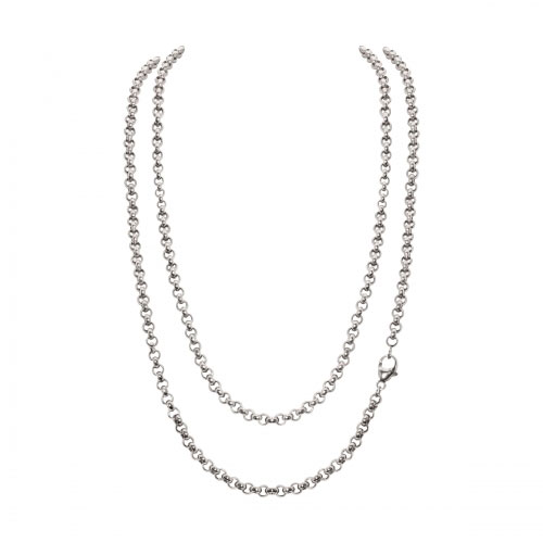 Timebeads Small Link Belcher 45cm Silver Plated Chain Necklace