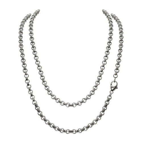 Timebeads Medium Link Belcher 45cm Silver Plated Chain Necklace