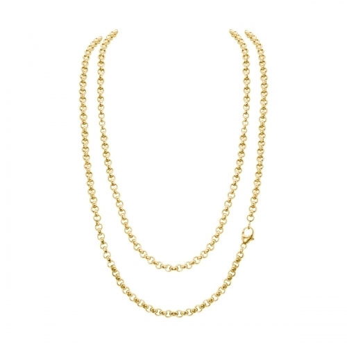Timebeads Small Link Belcher 48cm Gold Plated Necklace Chain