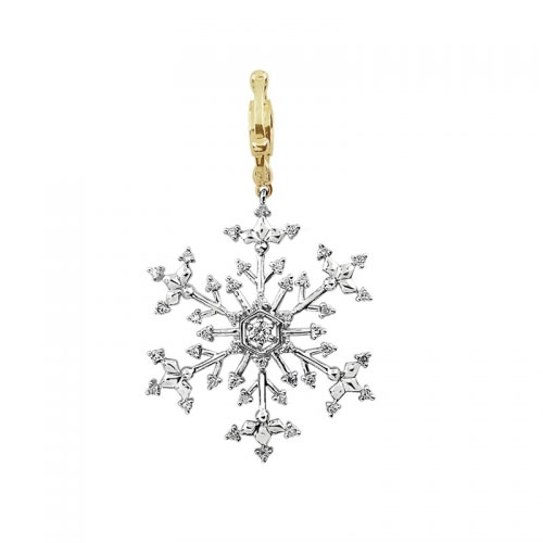 Storywheels Gold and Diamond Snowflake Pendant
