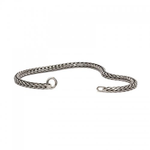 Trollbeads 17cm Sterling Silver Foxtail Bracelet 15219