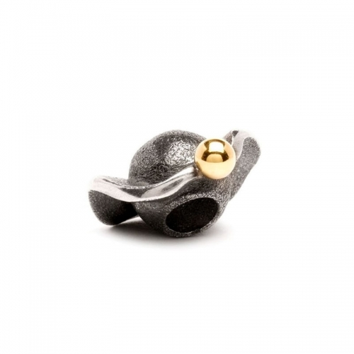 Trollbeads Silver and Gold Space Bead 41812