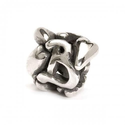 Trollbeads Letter B Silver Bead 11144B