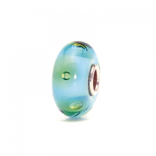 Trollbeads Turquoise Bubbles Silver & Glass Bead 61168