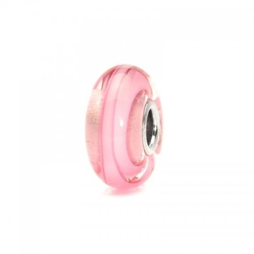 Trollbeads Rose Ribbon Silver & Glass Bead 61198 (RETIRED)