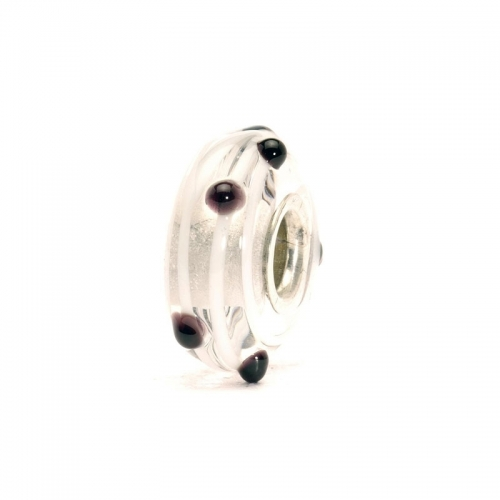 Trollbeads Black Dot Silver & Glass Bead 61305
