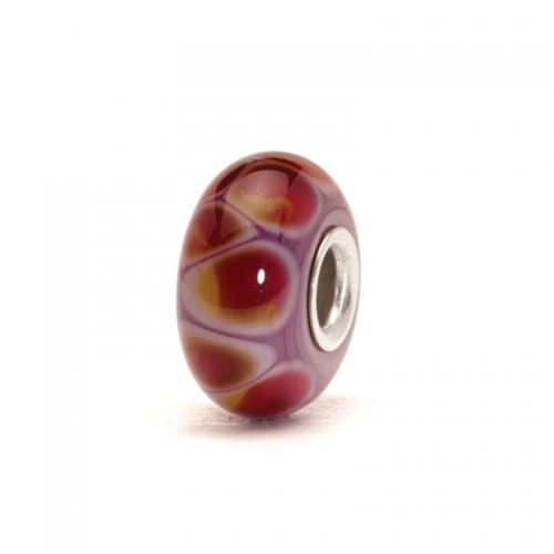 Trollbeads Lilac Edge Silver & Glass Bead 61311 (RETIRED)