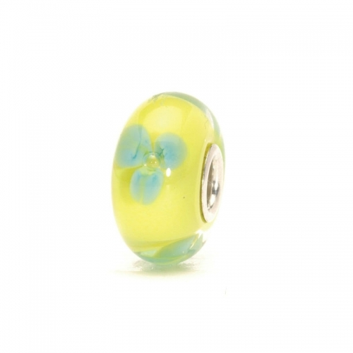 Trollbeads Turquoise Flower Silver & Glass Bead 61322