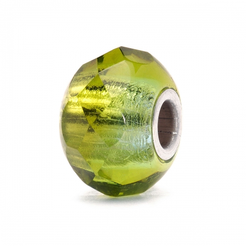 Trollbeads Green Prism Silver & Glass Bead 60182
