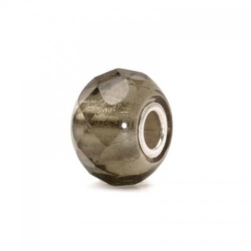 Trollbeads Grey Prism Silver & Glass Bead 60183