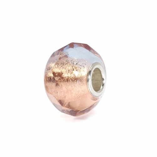 Trollbeads Pink Prism Silver & Glass Bead 60185