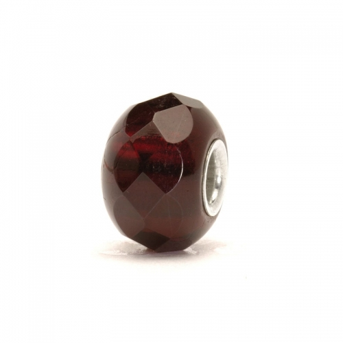 Trollbeads Red Prism Silver & Glass Bead 60186