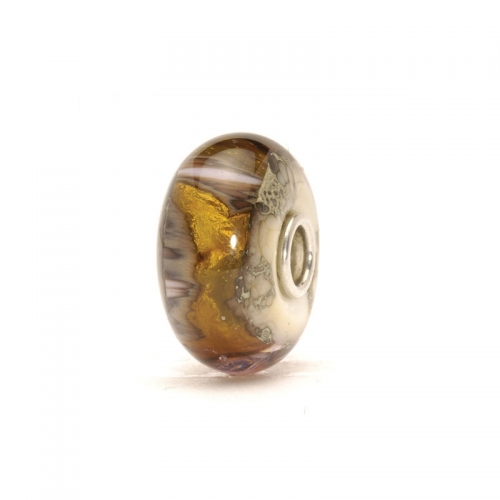 Trollbeads Golden Cave Silver & Glass Bead 62010