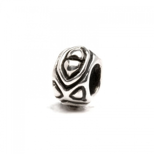 Trollbeads Angles Triangles Silver Bead 11136 (RETIRED)