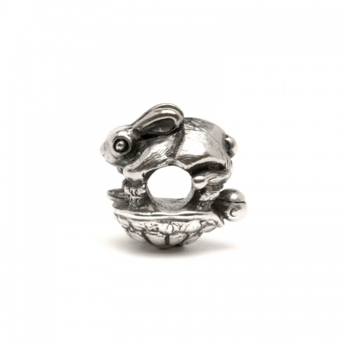 Trollbeads The Hare & The Tortoise Silver Bead 11255