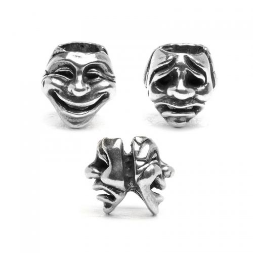 Trollbeads Theatre Masks Silver Bead 11315